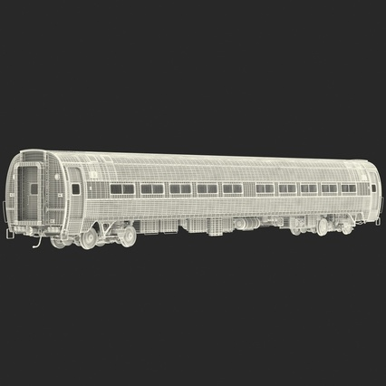 Railroad Amtrak Passenger Car 2. Render 69