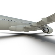 Jet Airliner Airbus A330-300 Northwest Airlines Rigged. Preview 42