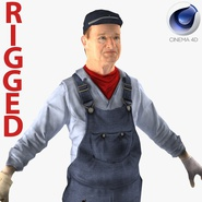 Locomotive Engineer Rigged for Cinema 4D