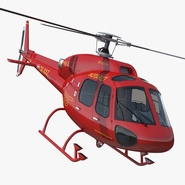 Helicopter Service Eurocopter AS 355 Rigged