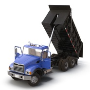 Dump Truck Mack Rigged. Preview 16