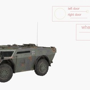 Fennek German Reconnaissance Vehicle Rigged. Preview 4