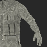 SWAT Man Mediterranean Rigged for Cinema 4D. Preview 57