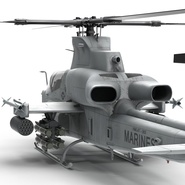Attack Helicopter Bell AH 1Z Viper Rigged. Preview 42