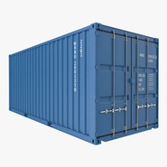20 ft ISO Container Blue