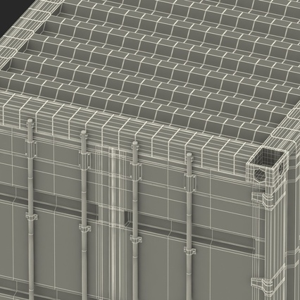 40 ft High Cube Container White. Render 54