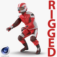 Motorcycle Rider Generic 2 Rigged for Cinema 4D