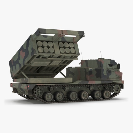 US Multiple Rocket Launcher M270 MLRS Camo. Render 1