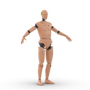Male Crash Test Dummy Rigged for Cinema 4D. Preview 3