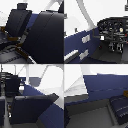 Piper PA-28-161 Cherokee Rigged. Render 22
