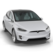 Tesla Model X Rigged. Preview 19