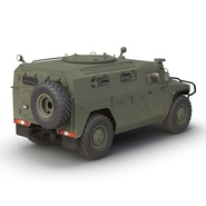 Russian Mobility Vehicle GAZ Tigr M Rigged. Preview 13