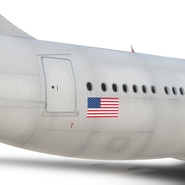 Jet Airliner Airbus A330-200 Northwest Airlines Rigged. Preview 50