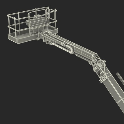 Telescopic Boom Lift Generic 4 Pose 2. Render 102