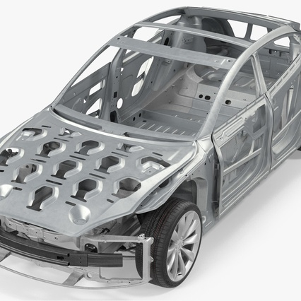 Tesla Model S Frame and Chassis. Render 12