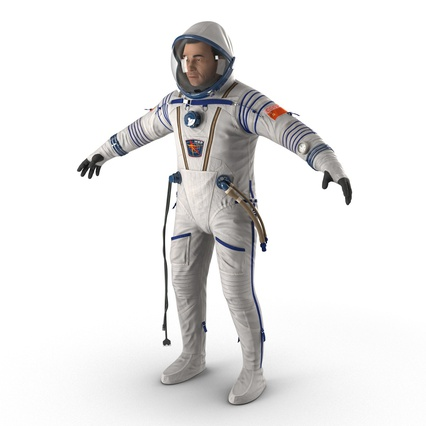 Russian Astronaut Wearing Space Suit Sokol KV2 Rigged for Maya. Render 15