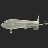 Jet Airliner Airbus A330-300 Emirates Rigged. Preview 61