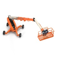 Telescopic Boom Lift Generic 4 Pose 2. Preview 15
