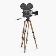 Vintage Video Camera and Tripod