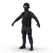 SWAT Man Mediterranean Rigged for Cinema 4D. Preview 18