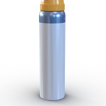 Metal Bottle With Sprayer Cap Generic. Render 9