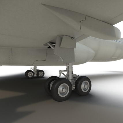Jet Airliner Airbus A330-300 Northwest Airlines Rigged. Render 48