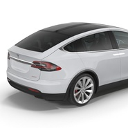 Tesla Model X Rigged. Preview 38