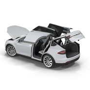 Tesla Model X Rigged. Preview 12