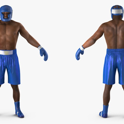 African American Boxer Rigged for Cinema 4D. Render 8