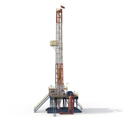 Fracking Gas Platform. Render 6