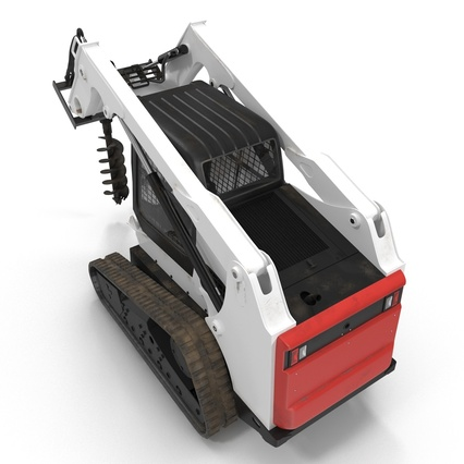 Compact Tracked Loader with Auger. Render 11