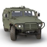 Russian Mobility Vehicle GAZ Tigr M Rigged. Preview 18