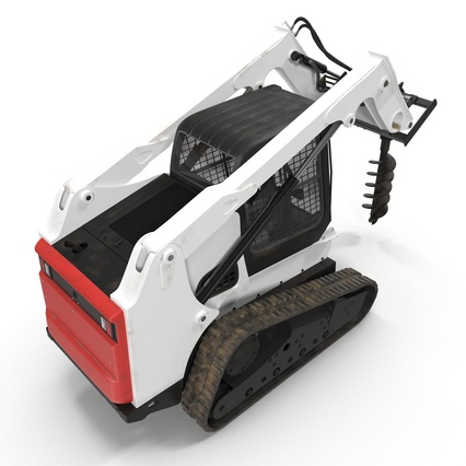 Compact Tracked Loader with Auger. Render 12