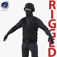 SWAT Man Mediterranean Rigged 2 for Cinema 4D
