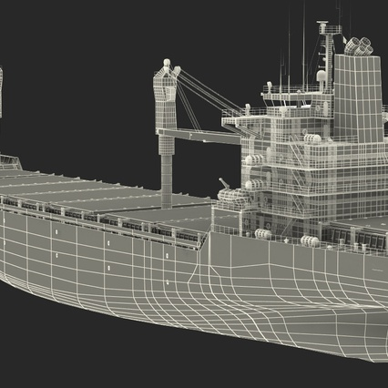 Sea Cargo Ship Generic. Render 33