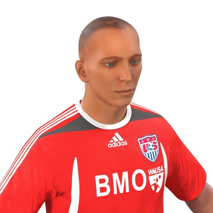 Soccer Player Rigged for Maya. Render 27