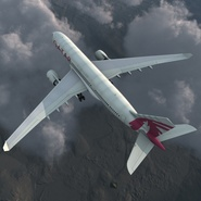 Jet Airliner Airbus A330-200 Qatar. Preview 8