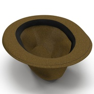 Fedora Hat Brown. Preview 11