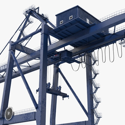 Container Crane Blue. Render 13