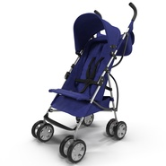 Baby Stroller Blue. Preview 2