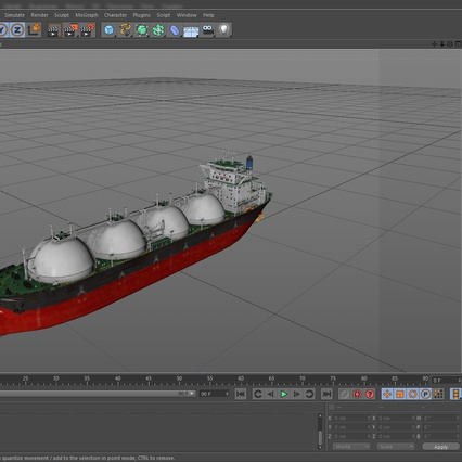 Gas Carrier Ship. Render 28