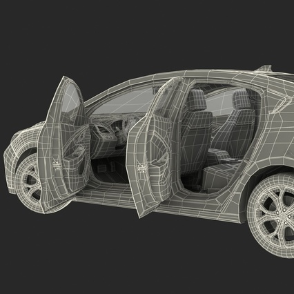 Generic Hybrid Car Rigged. Render 102