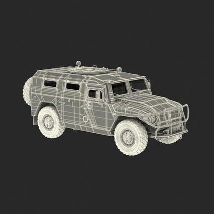 Russian Mobility Vehicle GAZ Tigr M Rigged. Render 6
