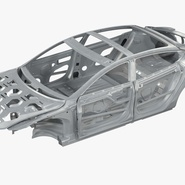 Tesla Model S Frame and Chassis. Preview 5