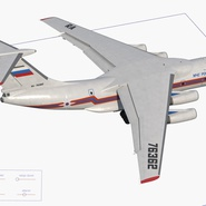 Ilyushin Il-76 Emergency Russian Air Force Rigged. Preview 20
