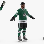Hockey Player Stars Rigged for Maya. Preview 7
