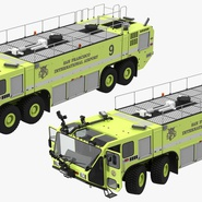 Oshkosh Striker 4500 Aircraft Rescue and Firefighting Vehicle Rigged. Preview 12