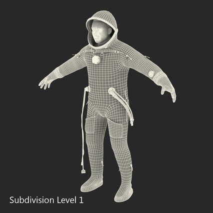 Russian Astronaut Wearing Space Suit Sokol KV2 Rigged for Maya. Render 51
