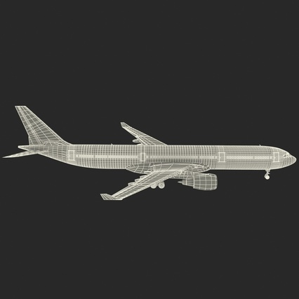 Jet Airliner Airbus A330-300 Emirates Rigged. Render 60