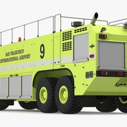 Oshkosh Striker 4500 Aircraft Rescue and Firefighting Vehicle Rigged. Preview 10